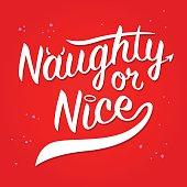 Naughty Or Nice typography Art