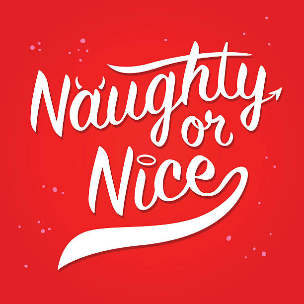 Naughty Or Nice typography Art Naughty or nice typography art, vector illustration seven deadly sins stock illustrations