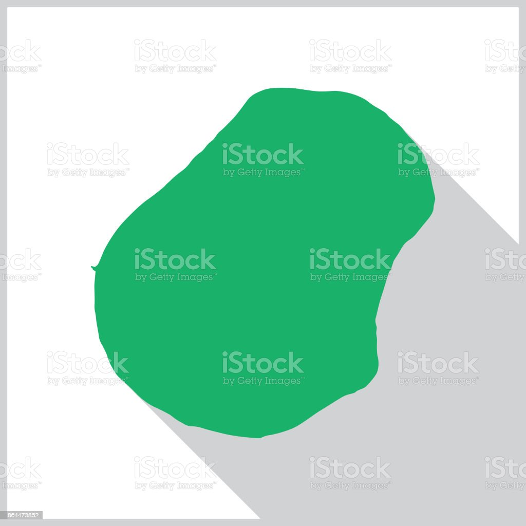 Vector illustration of a green map of Nauru on a square white...
