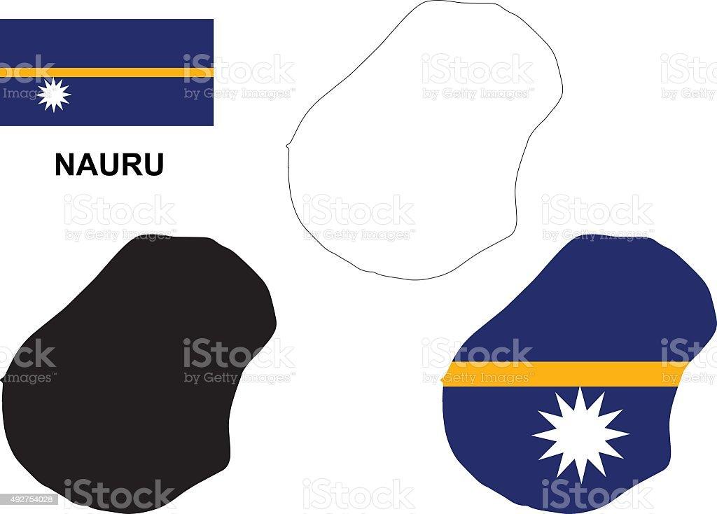 Nauru Map Vector Nauru Flag Vector Isolated Nauru Stock Vector Art - Nauru map vector