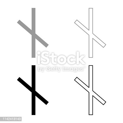 istock Nauthis rune Neidis need night not symbol icon set grey black color illustration outline flat style simple image 1142413143
