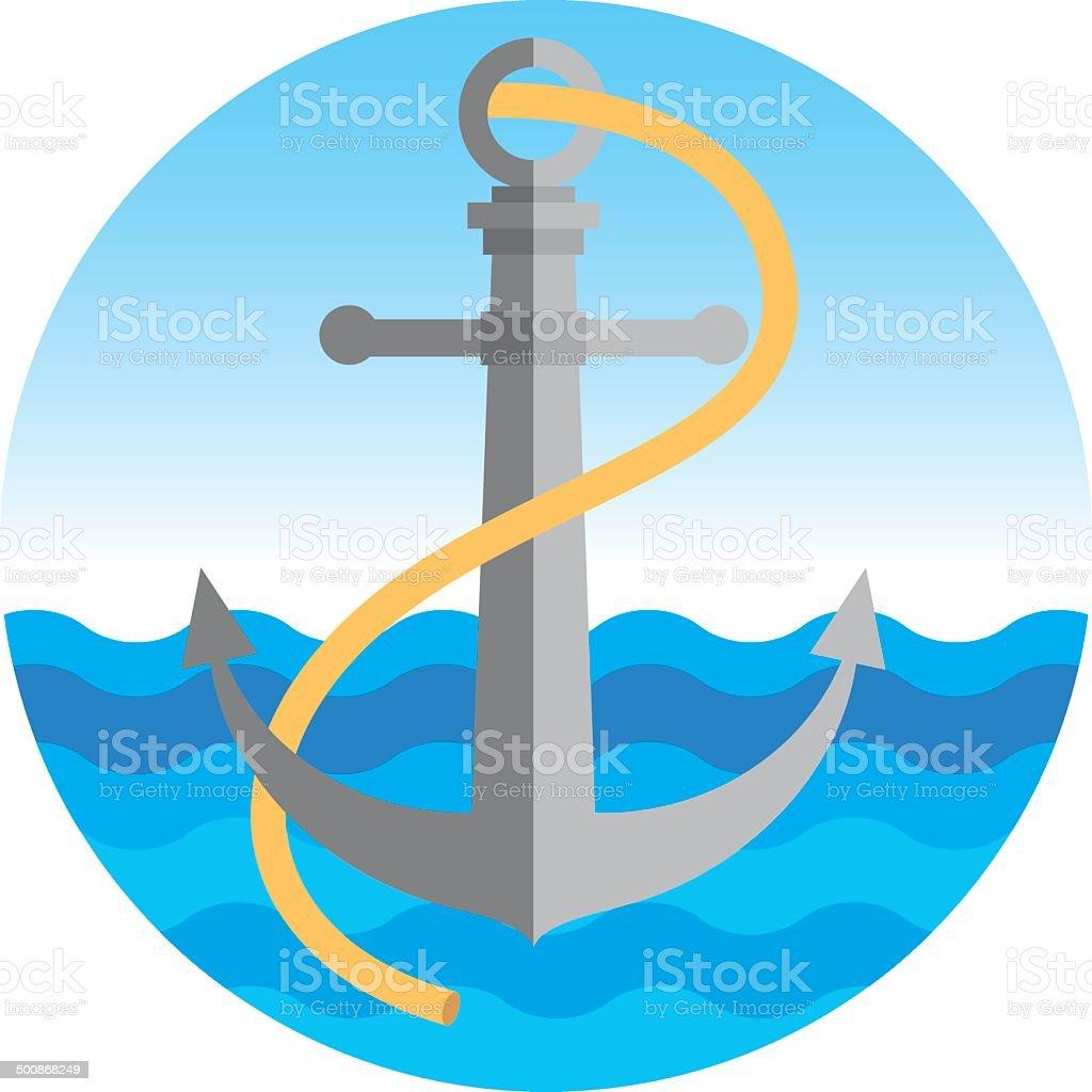 Nautical Anchor vector royalty-free nautical anchor vector stock vector art & more images of anchor - athlete