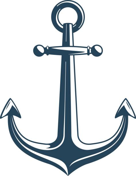 Nautical anchor vector. vector art illustration