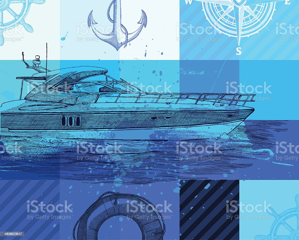 Nautical Background royalty-free stock vector art