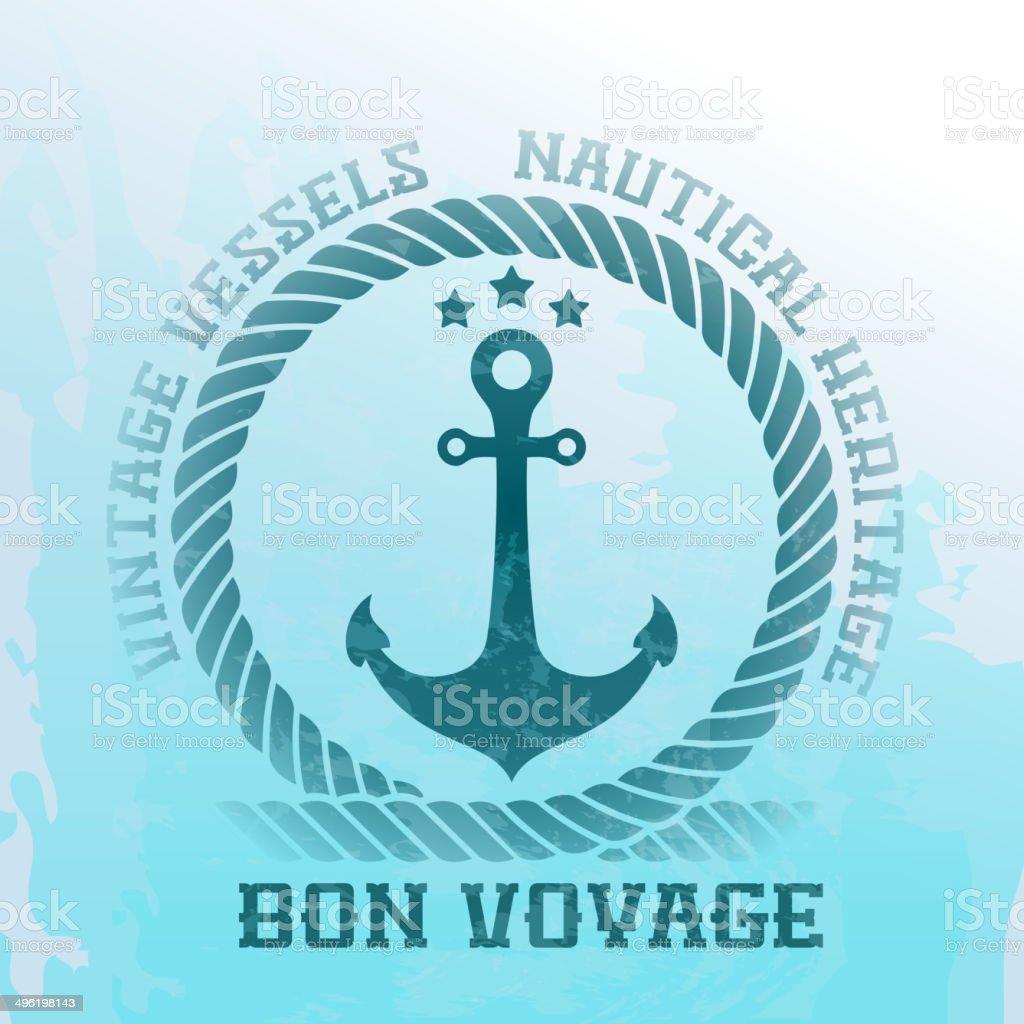 Nautical background vector art illustration