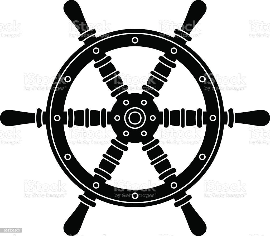 Vetores De Nautical Boat Steering Wheel Silhouette E Mais Imagens De Antiguidade Istock