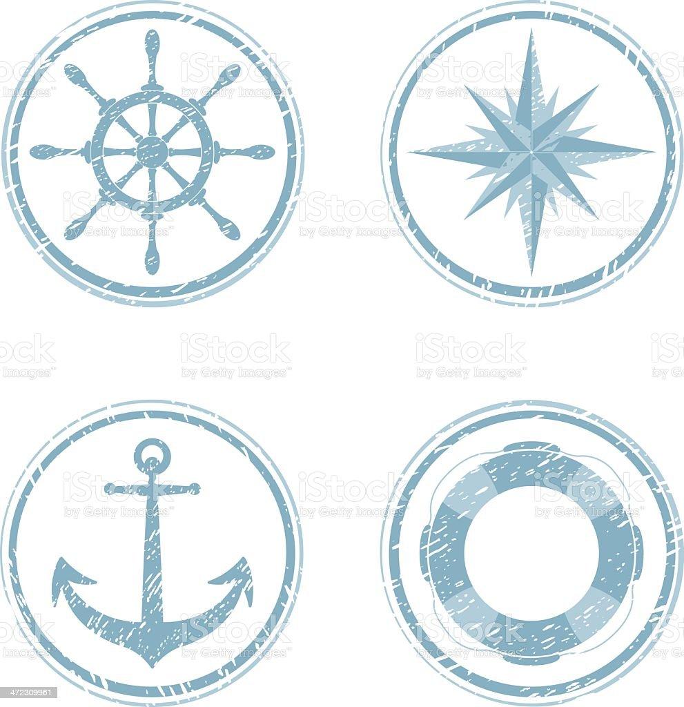 Nautical Design Elements vector art illustration