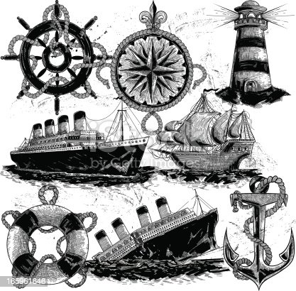 Nautical Elements in classic style