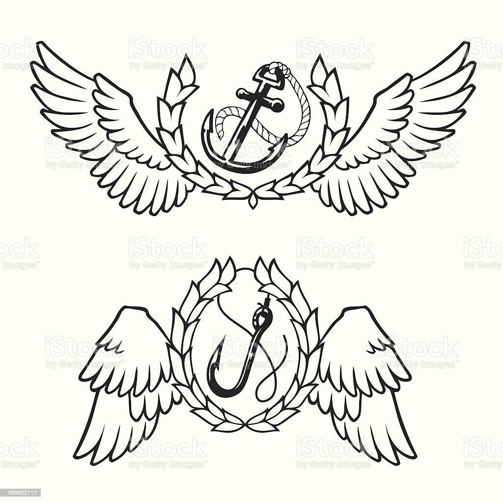 Nautical Emblem vector art illustration