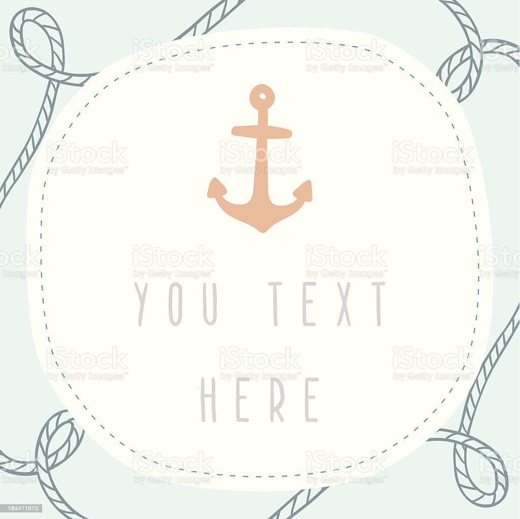 Nautical gift card with place for your text royalty-free nautical gift card with place for your text stock vector art & more images of anchor - vessel part