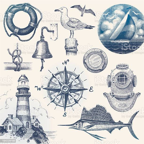Nautical hand drawn vector set vector id154229193?b=1&k=6&m=154229193&s=612x612&h=m0ojruyxw 8kre7 kknvg8kpyjmniwd086cciwd2d4q=