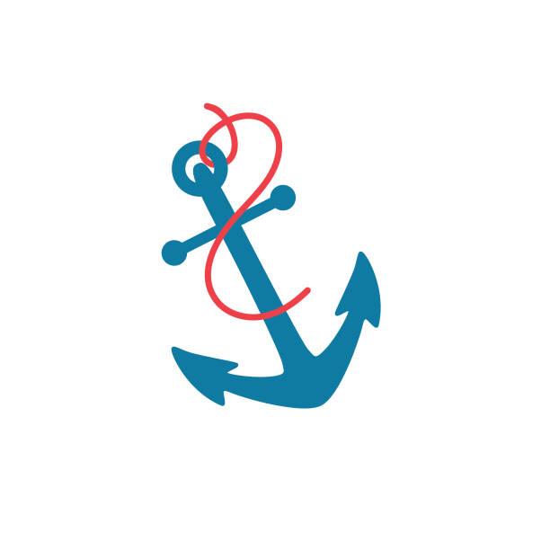 Nautical Icon - Anchor vector art illustration