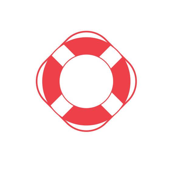 Nautical Icon - Life Preserver RIng vector art illustration
