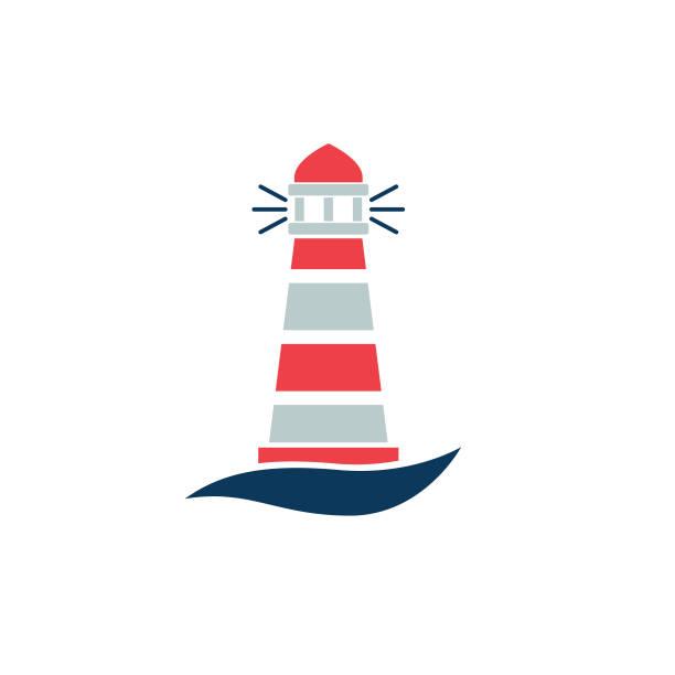 Nautical Icon - Lighthouse vector art illustration