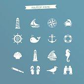 Nautical icon set