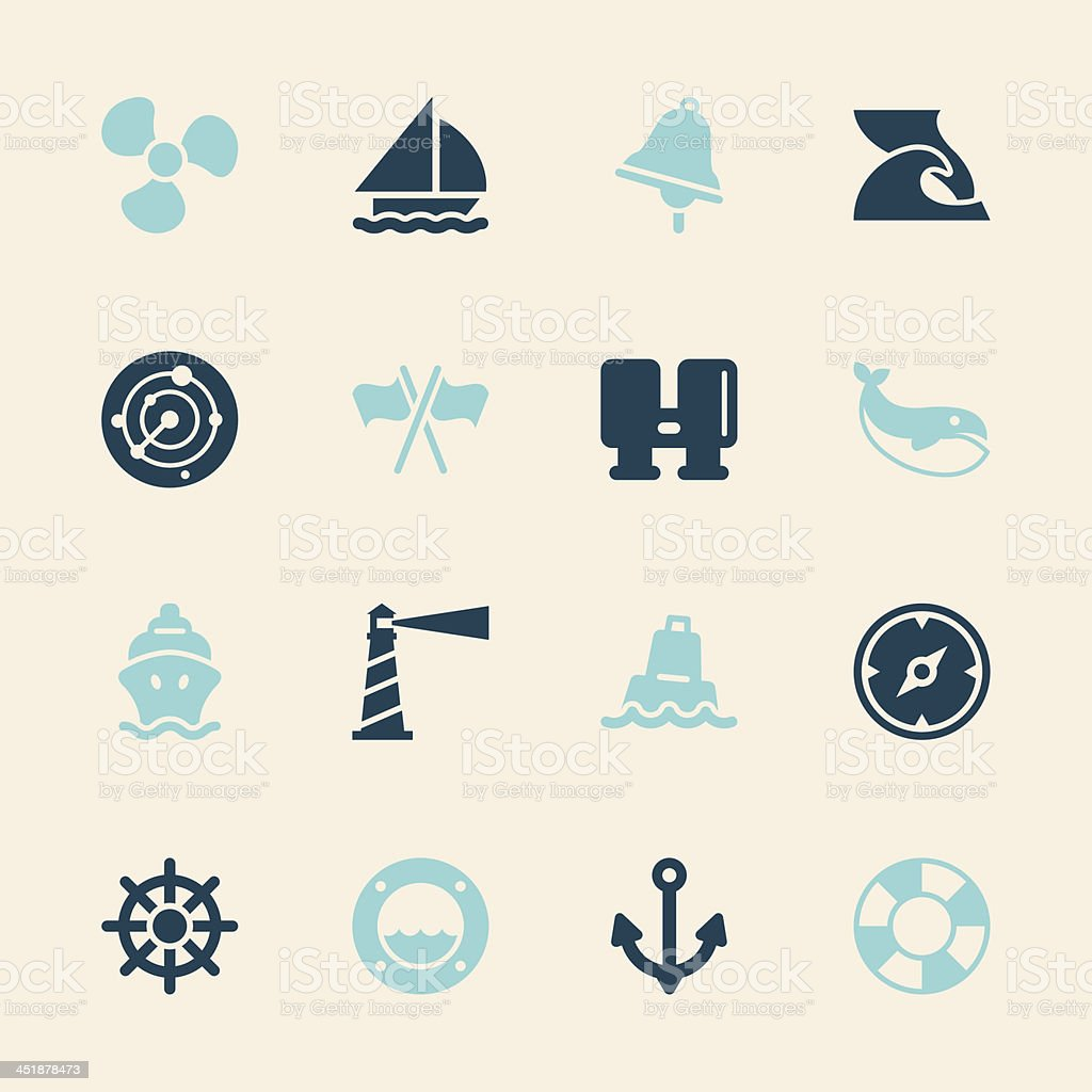 Nautical Icons - Color Series | EPS10 royalty-free nautical icons color series eps10 stock vector art & more images of anchor - vessel part