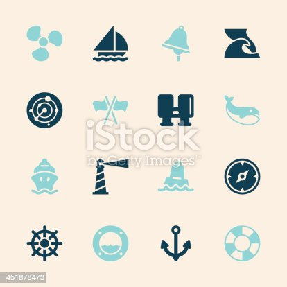 Nautical Icons Color Series Vector EPS10 File.