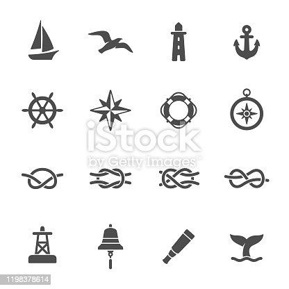 Sea vector icon set
