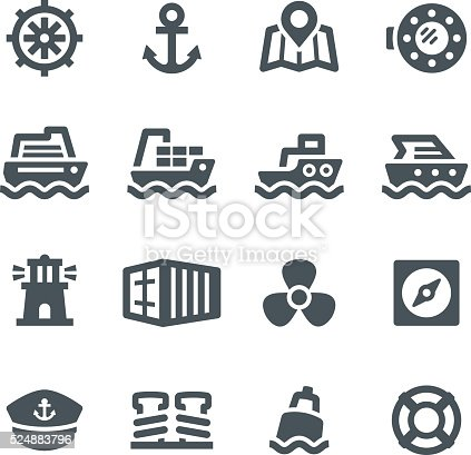 Nautical, shipping, icons, sailing, anchor, sea, shipping portn, ship, yacht, tugboat