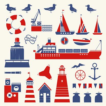 Nautical Illustration Set