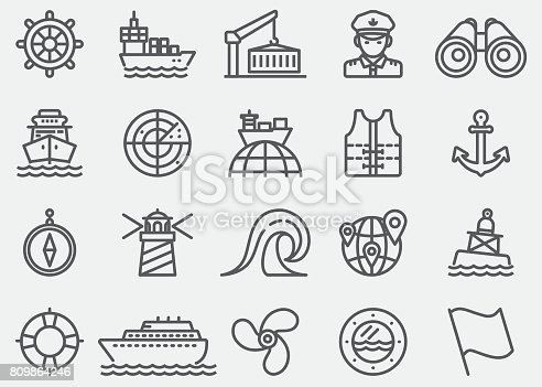 Nautical Line Icons