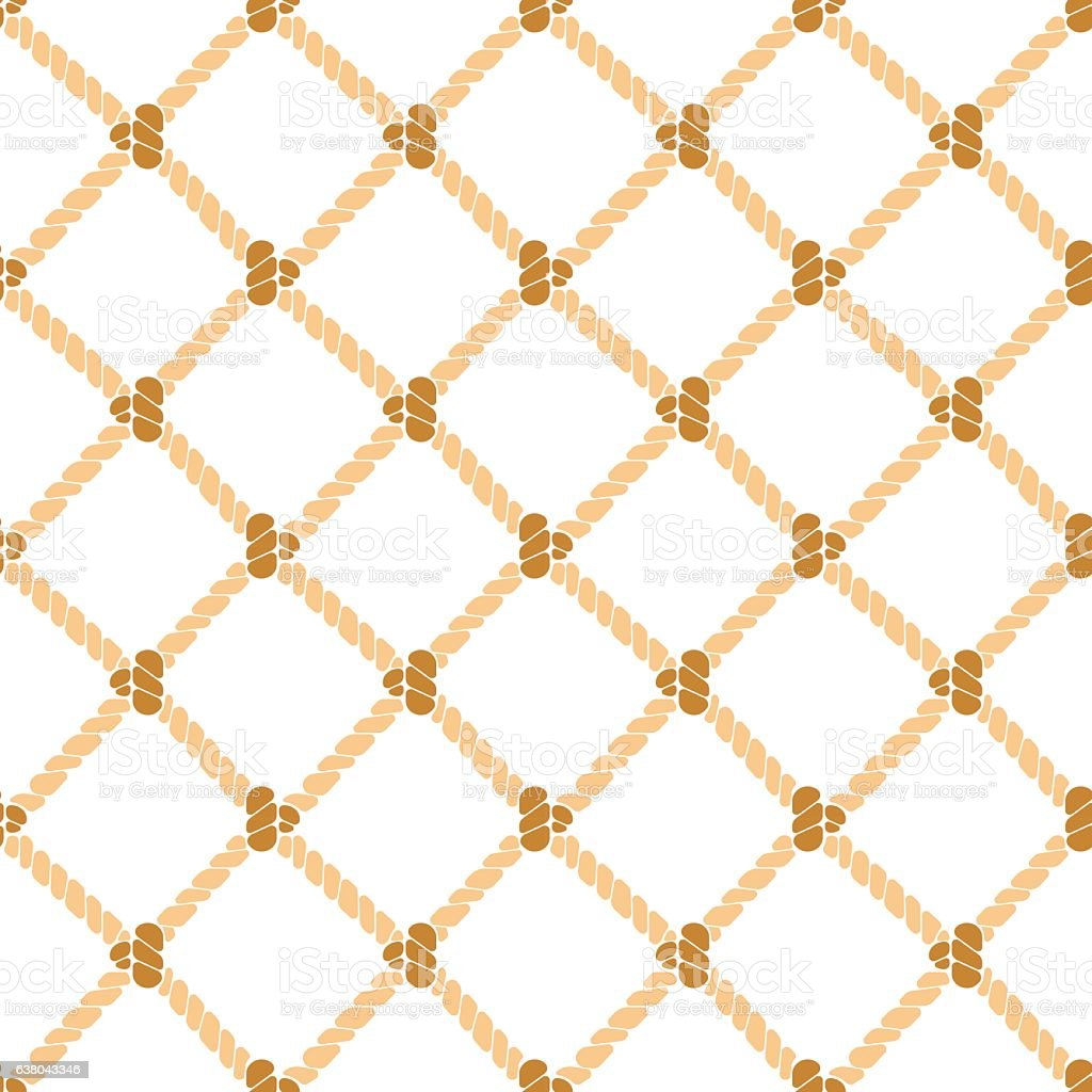 Nautical Rope Background Pattern. Vector vector art illustration