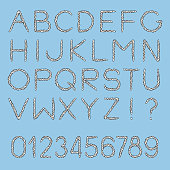 Nautical Rope Font Stock Illustration - Download Image Now