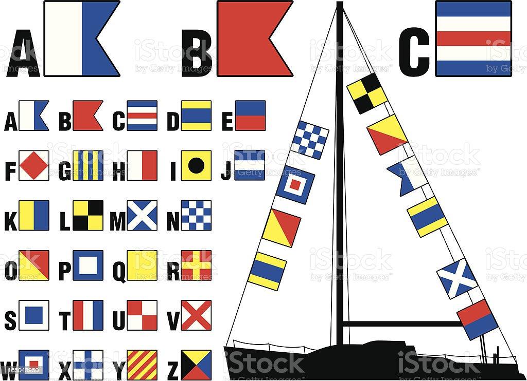 Nautical Signal Flags vector art illustration