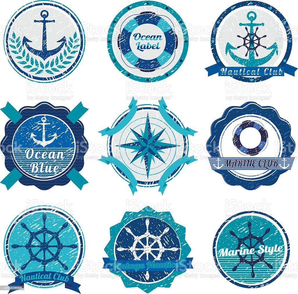 Nautical Symbols royalty-free stock vector art