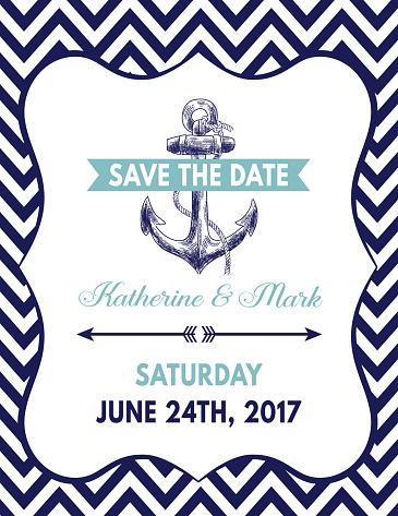 Nautical Theme Party Invitation Template