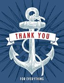Nautical Theme Thank You Note.
