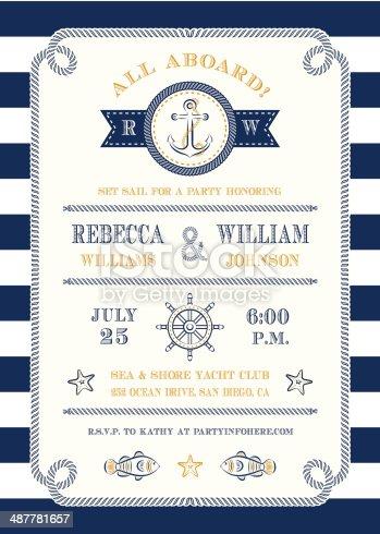 istock Nautical Themed Invitation 487781657