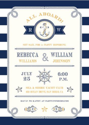 Nautical Themed Invitation