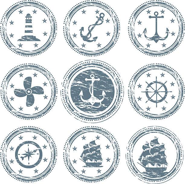 Nautical Vessel Symbols vector art illustration