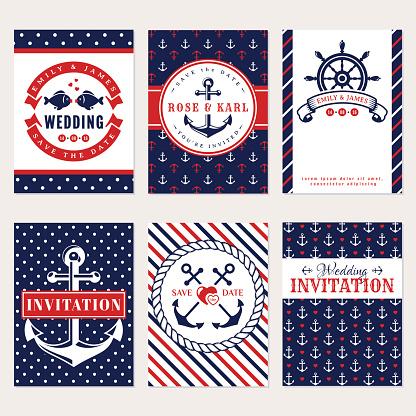 Nautical wedding invitations.