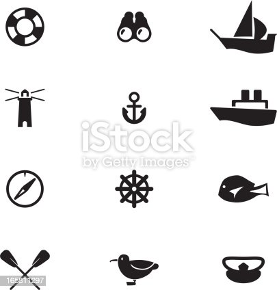 Vector File of Nautical Icon Set