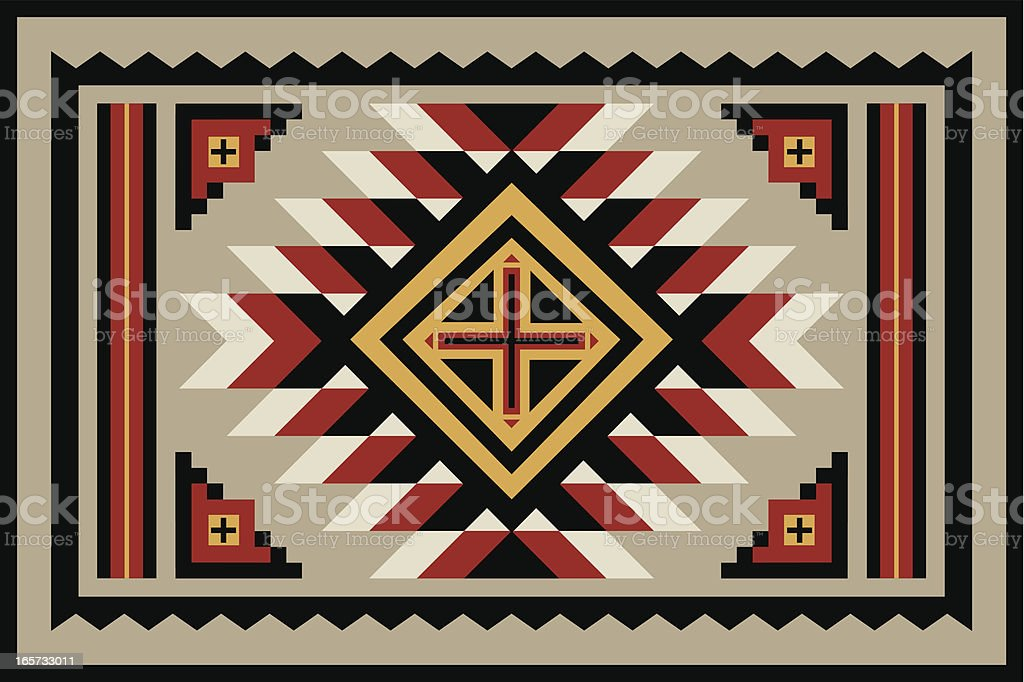Navajo Rug vector art illustration