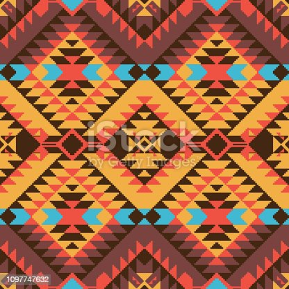 Abstract geometric pattern in Navajo style