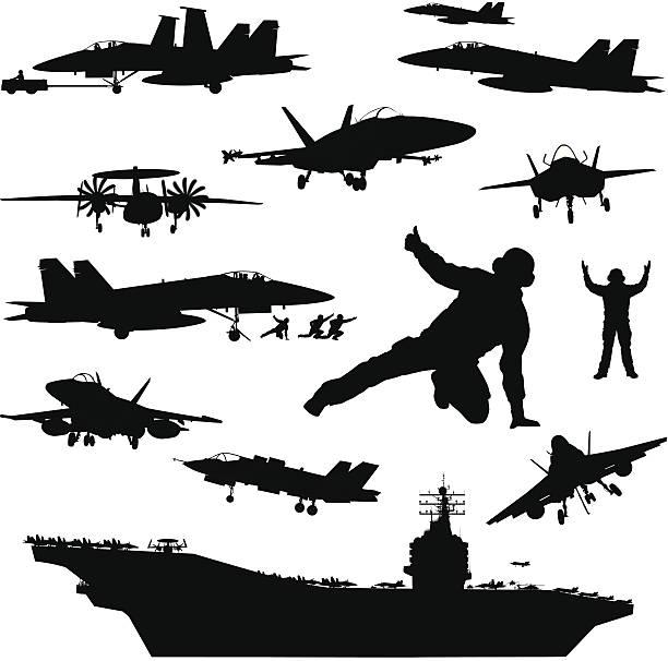 illustrazioni stock, clip art, cartoni animati e icone di tendenza di naval aviation modelli - portare