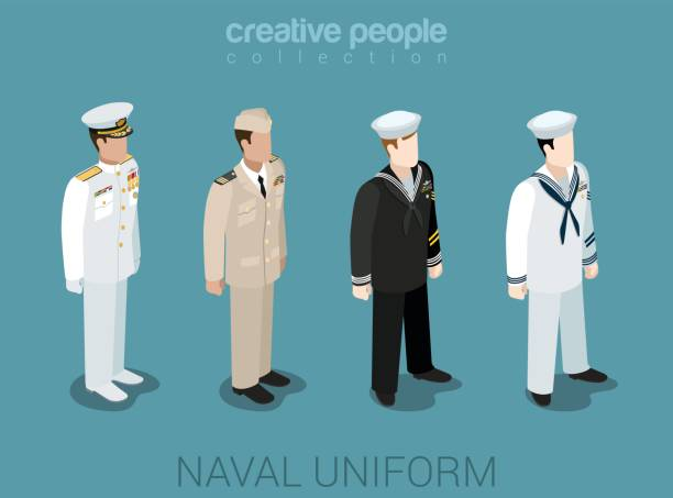 Naval military people in uniform flat isometric 3d game avatar user profile icon vector illustration set. Sailor navy officer NCIS fleet. Creative people collection. Build your own world. Naval military people in uniform flat isometric 3d game avatar user profile icon vector illustration set. Sailor navy officer NCIS fleet. Creative people collection. Build your own world. military uniform stock illustrations