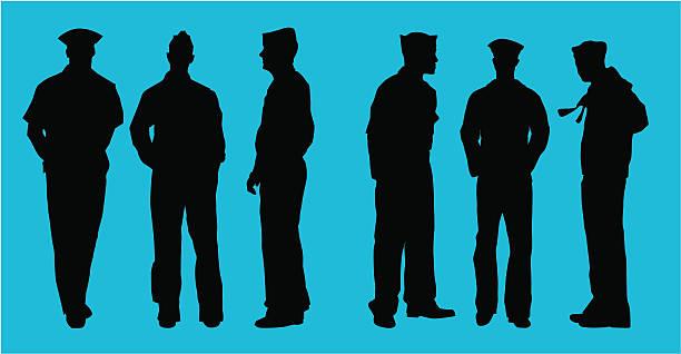 Naval Officers ( vector ) Navy officers. svg stock illustrations
