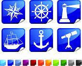 naval voyage six sticker set