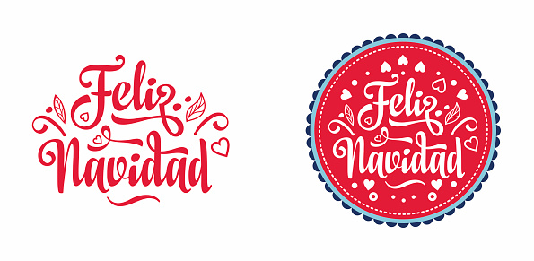 Navidad. Feliz navidad. Christmas banner. Xmas Background design shristmas greeting card. Merry Chrismas Happy Holiday. Xmas card on Spanish. Warm wishes for happy holidays in Spain.