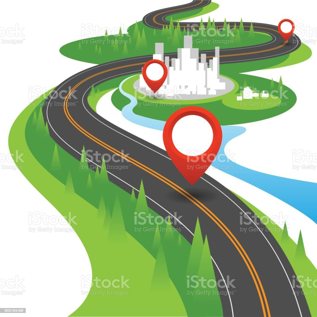 Navigation concept vector art illustration