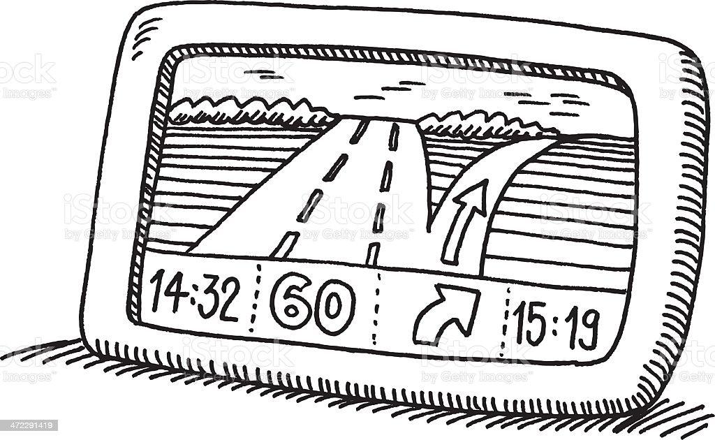 gps navigation device drawing stock vector art  u0026 more