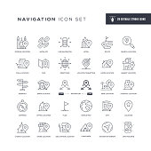 29 Navigation Icons - Editable Stroke - Easy to edit and customize - You can easily customize the stroke with