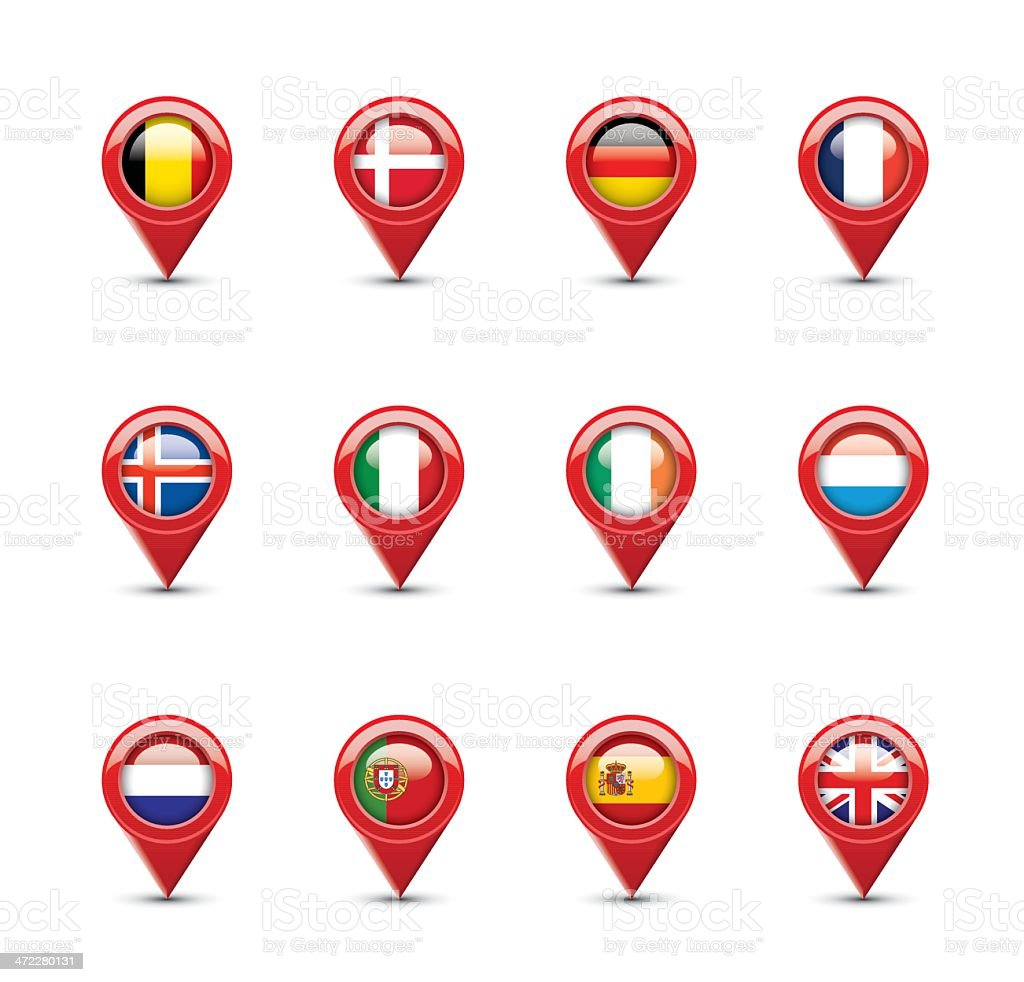 Navigation Flags: Western Europe royalty-free navigation flags western europe stock vector art & more images of belgium