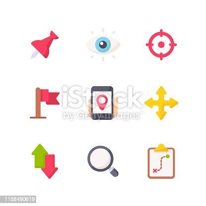 9 Navigation Flat Icons.