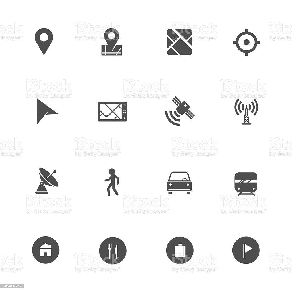 Navigation gps icon vector art illustration
