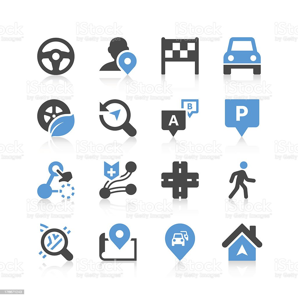 Navigation Icon Set | Concise Series royalty-free navigation icon set concise series stock vector art & more images of aiming